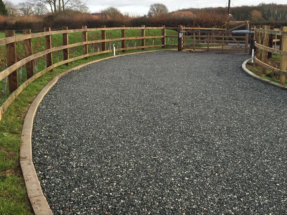 Driveway with granite