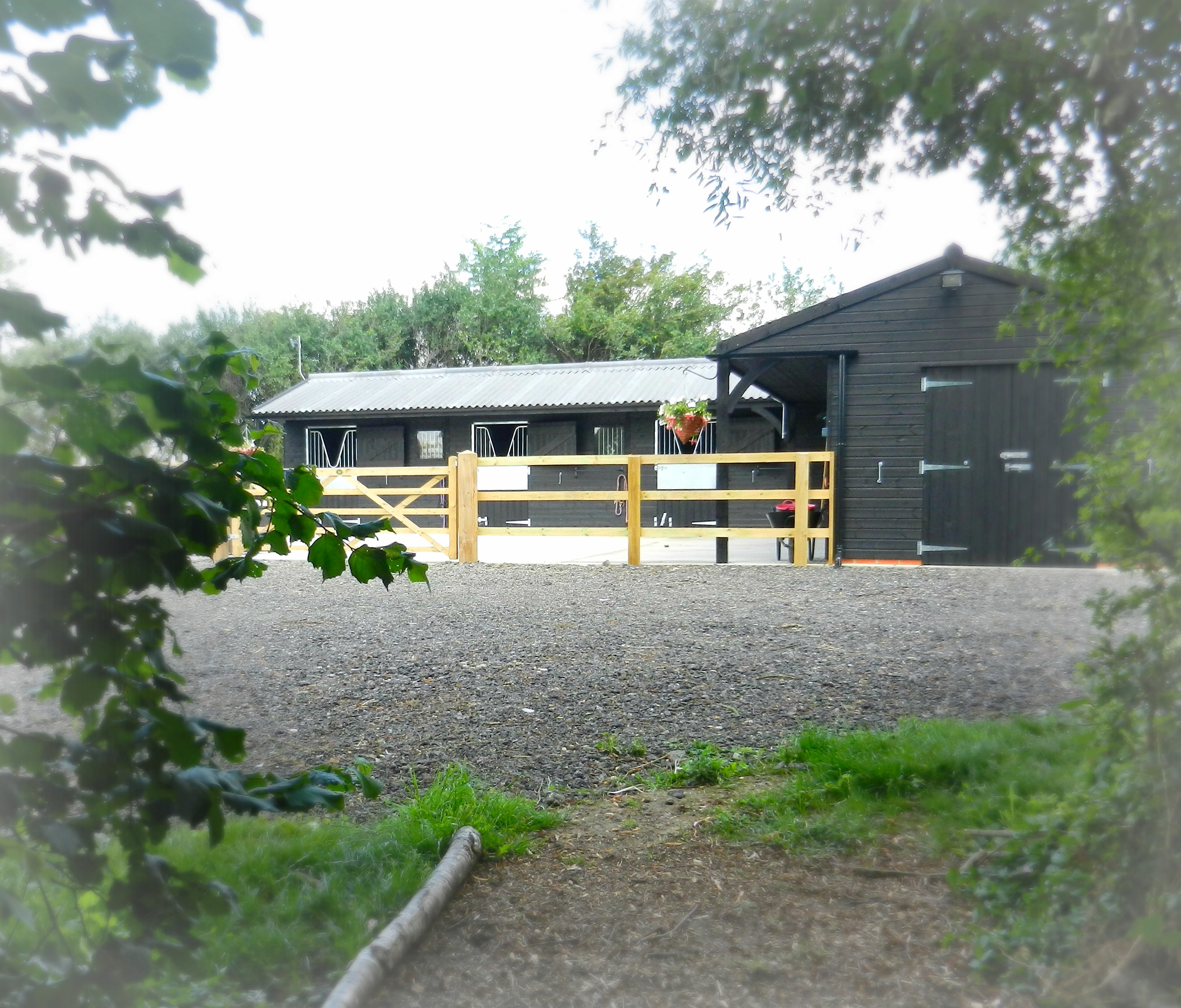 Stables through the woods